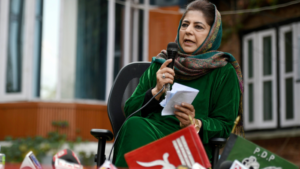 Jammu Kashmir Mehbooba Mufti Denied To Hold Triclor Flag Targets Centre Over Article 370