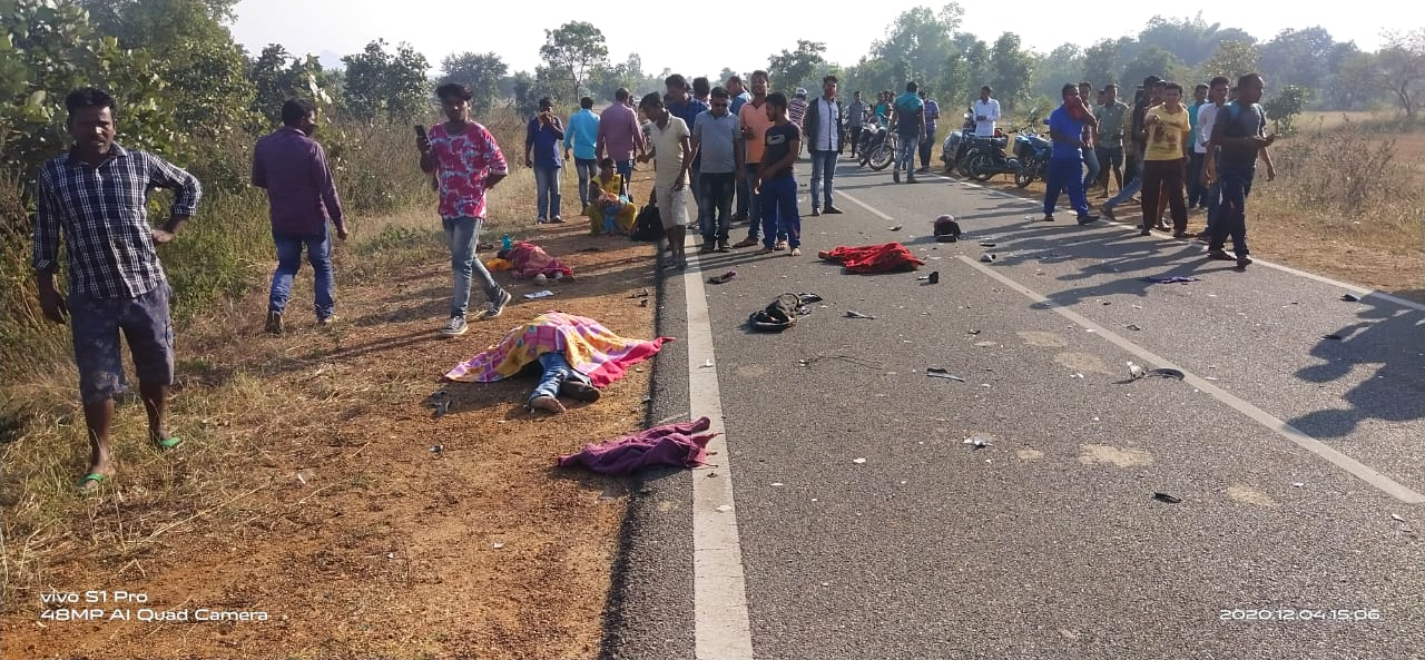 Bike Brunt After Crashed With Bolero In Bolangir, 2 Dead