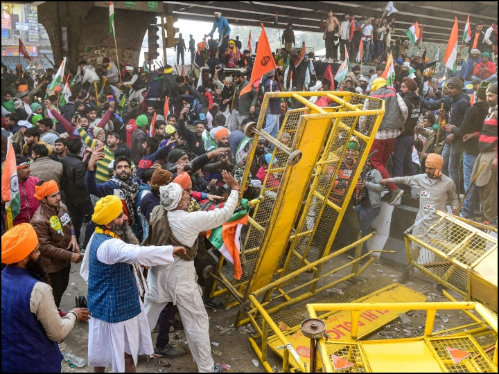 Clashes, vandalism, tractors on roads How farmers' march turned violent