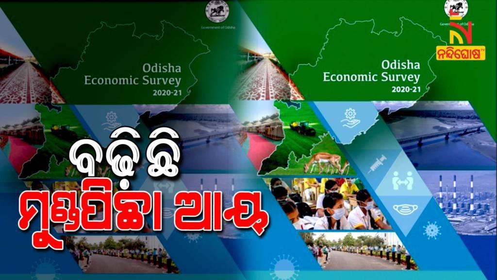 Odisha Economic Survey Report, Per Capita Income Increased By 115.60 Percentage