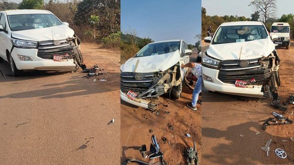 Odisha Textile Minister Padmini Dian's Car Accident In Koraput