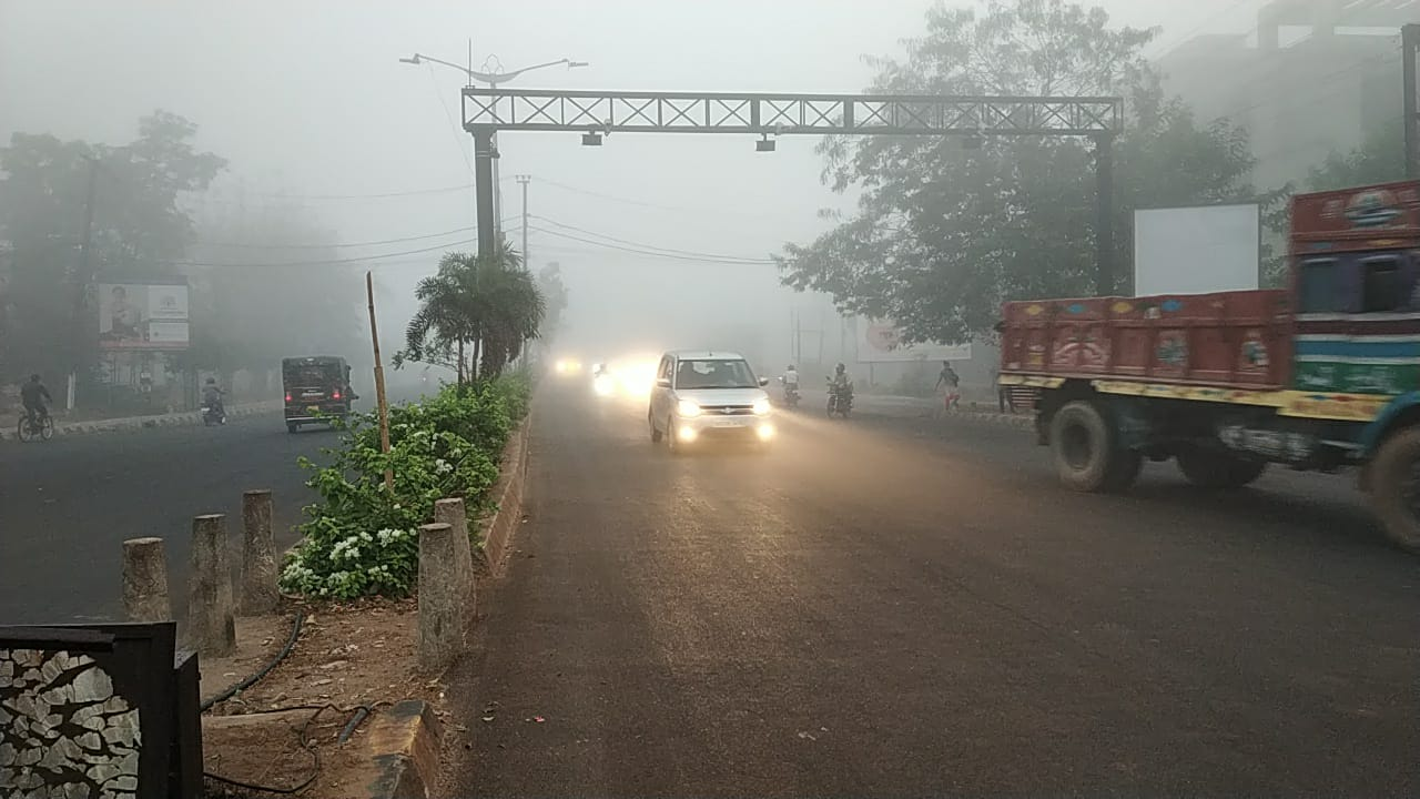 Very Intense Fog In Bhubaneswar