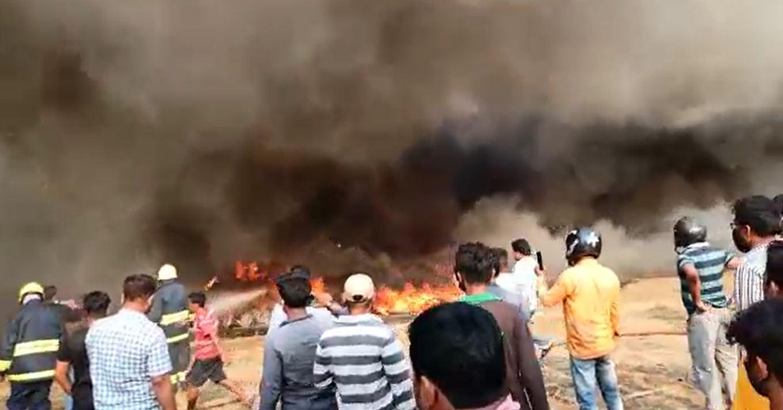 Fire Broke Out In A Scrap Shop Near Pandara