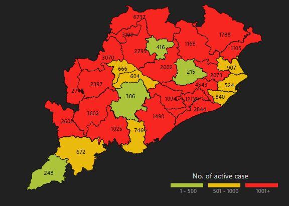 19 District Of Odisha In Covid Red Zone