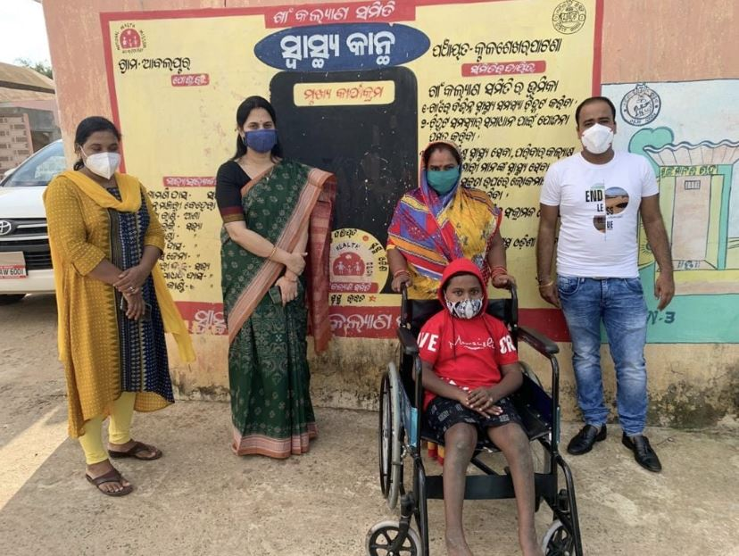 OTDC Chairman Gives An Tricycle To Handicapped Smruti Ranjan