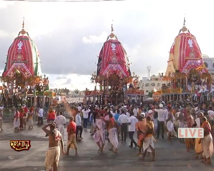 Rath Yatra LIVE Updates Three Chariot In Front Of Shri Gundicha Temple