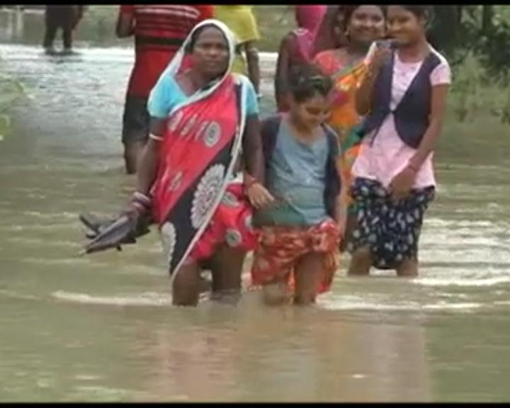 7540 House Damaged By Heavy Rain And Flood In Odisha