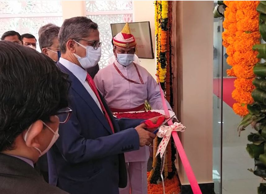 Aain Seva Bhawan Inaugurates By CJI NV Ramana
