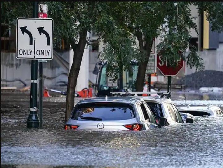 Heavy Rain In Newyork Hurricane Ida