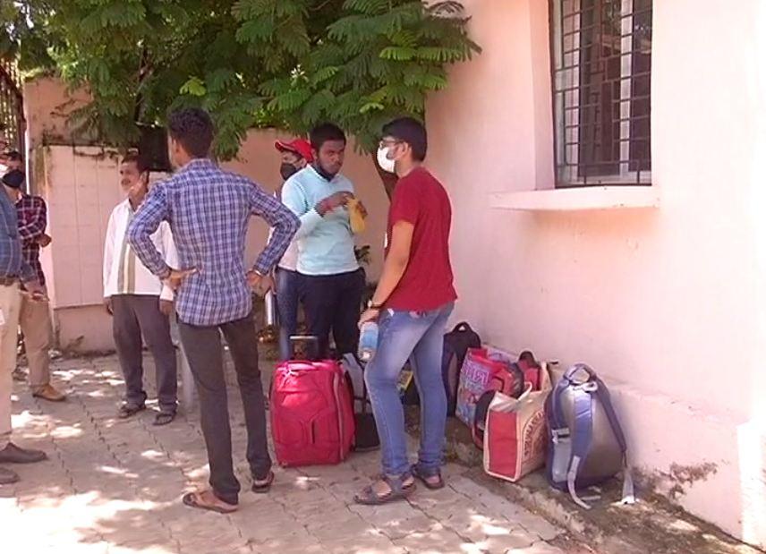 Police Closed BJB College Kharabel Hostel
