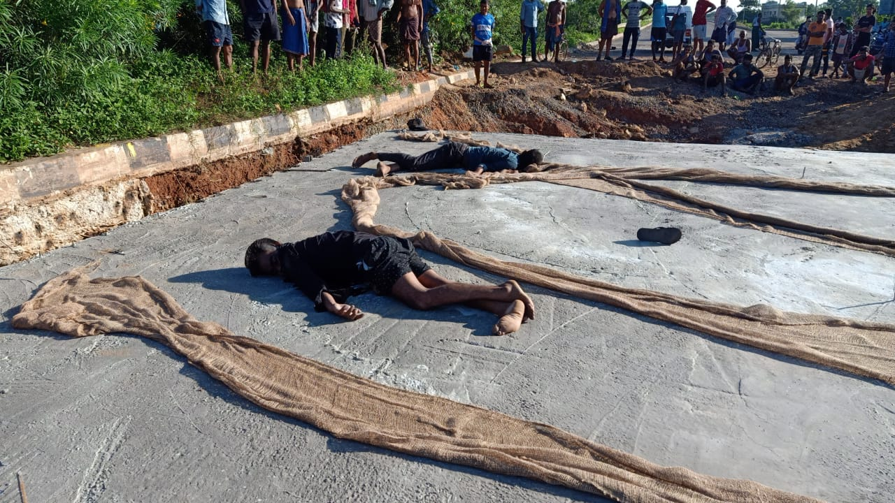 Two Dead Body Found In Constructional Over Bridge Of Jajpur